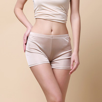 Woman Spring Mid Rise Solid Knitting 100 Silk Panties Female Summer Thin Breathable Stretch 100 Silk