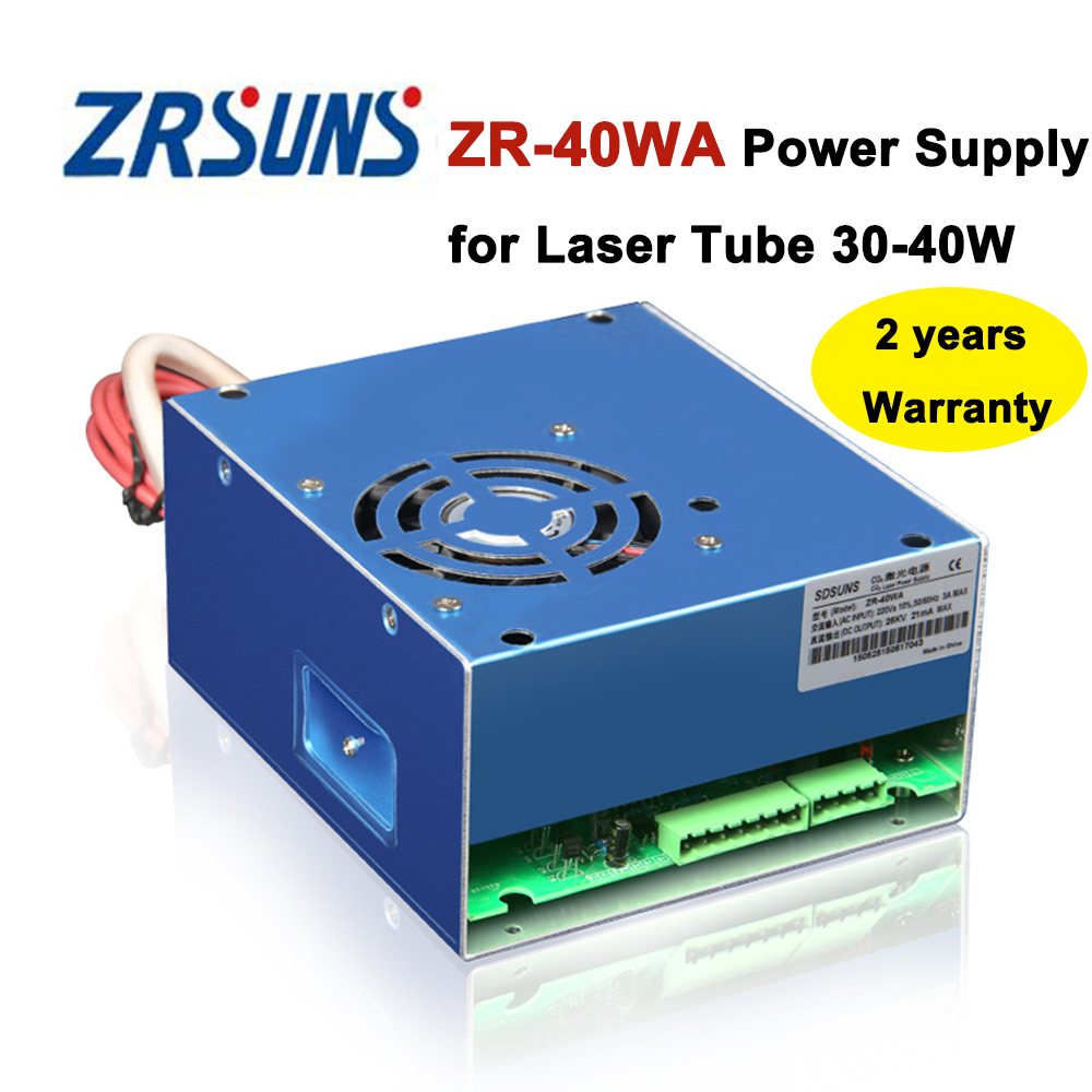 ZR-40WA Co2 Laser Power Supply 40w for Co2 Laser Engraving and Cutting Machine diy 40w co2 laser kits for laser cutting and engraving machine