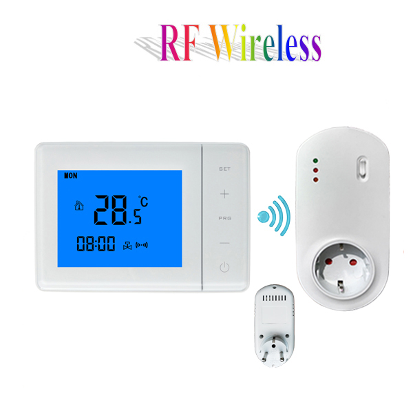Programmable Lcd Touch Screen Rf Wireless Thermostat 16a