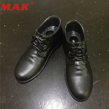 1/6 Scale Action Figure Accessories Black Brown Two Color Plastic Leather Shoes with Foot Shape inside for Joint Male Body