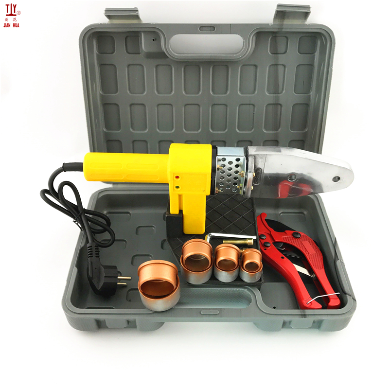 The Plumber Tool DN20-32mm 3Sets Heads 220V Heating Plastic Pipes Welding Maching With Tube Cutter Plumber To Use