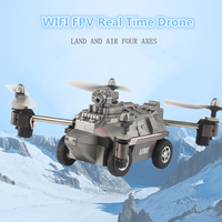 Boy Military RC Air Ground Drone Toy FY330 2 IN 1 RC flying tank quadcopter WIFI FPV Drone Add WIFI Real Time 480P 720P Camera