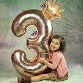 2 шт./лот, воздушные шары с цифрами 32/40 дюйма, с короной, воздушные шары 0-9, вечерние товары для декора на день рождения, годовщину