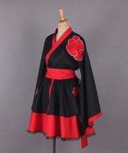 2016 Наруто Акацуки Организация Женский Лолита Платья Кимоно Аниме Косплей Костюм