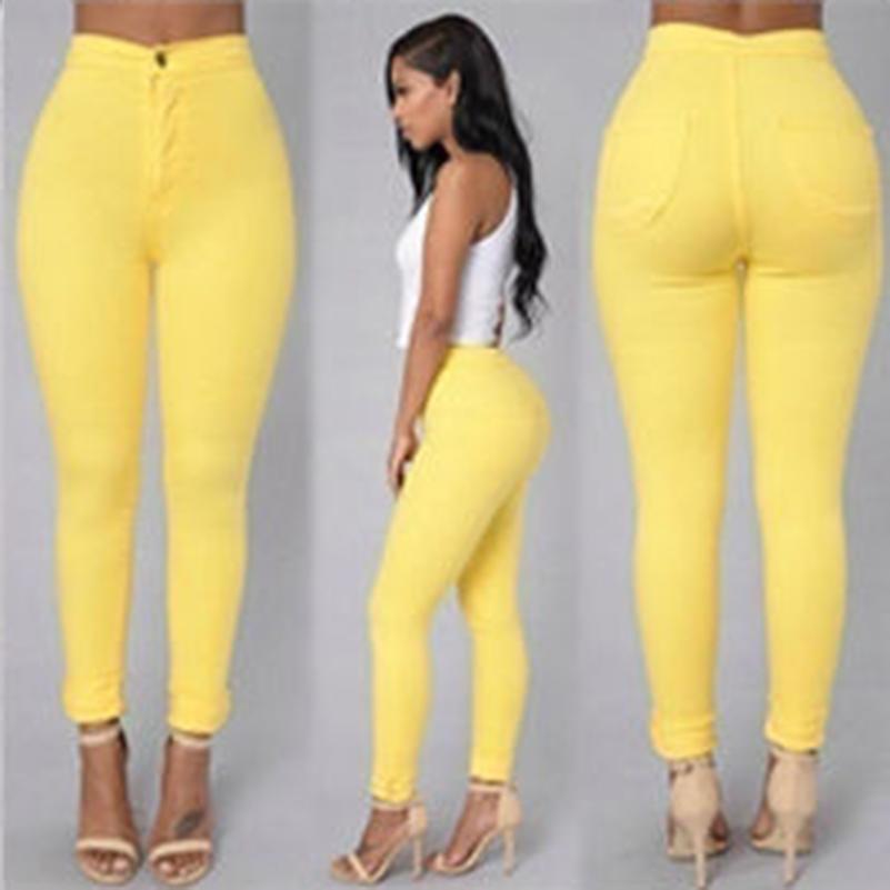 18 Solid Wash Skinny Jeans Woman High Waist winter Denim Pants Plus Size Push Up Trousers Bodycon warm Pencil Pants Female 12