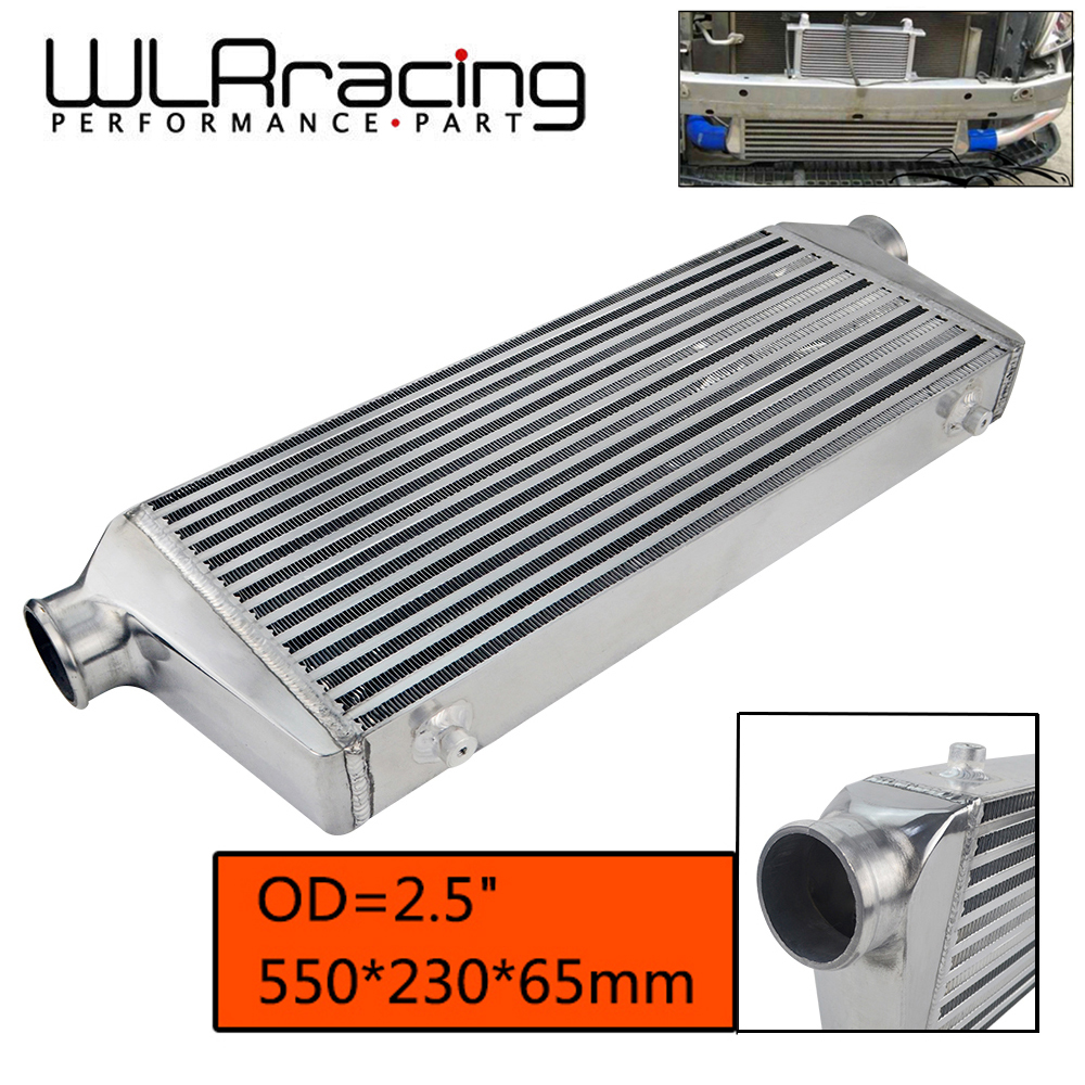WLR RACING 550 230 65mm Universal Turbo Intercooler bar plate OD 2 5 Front Mount intercooler