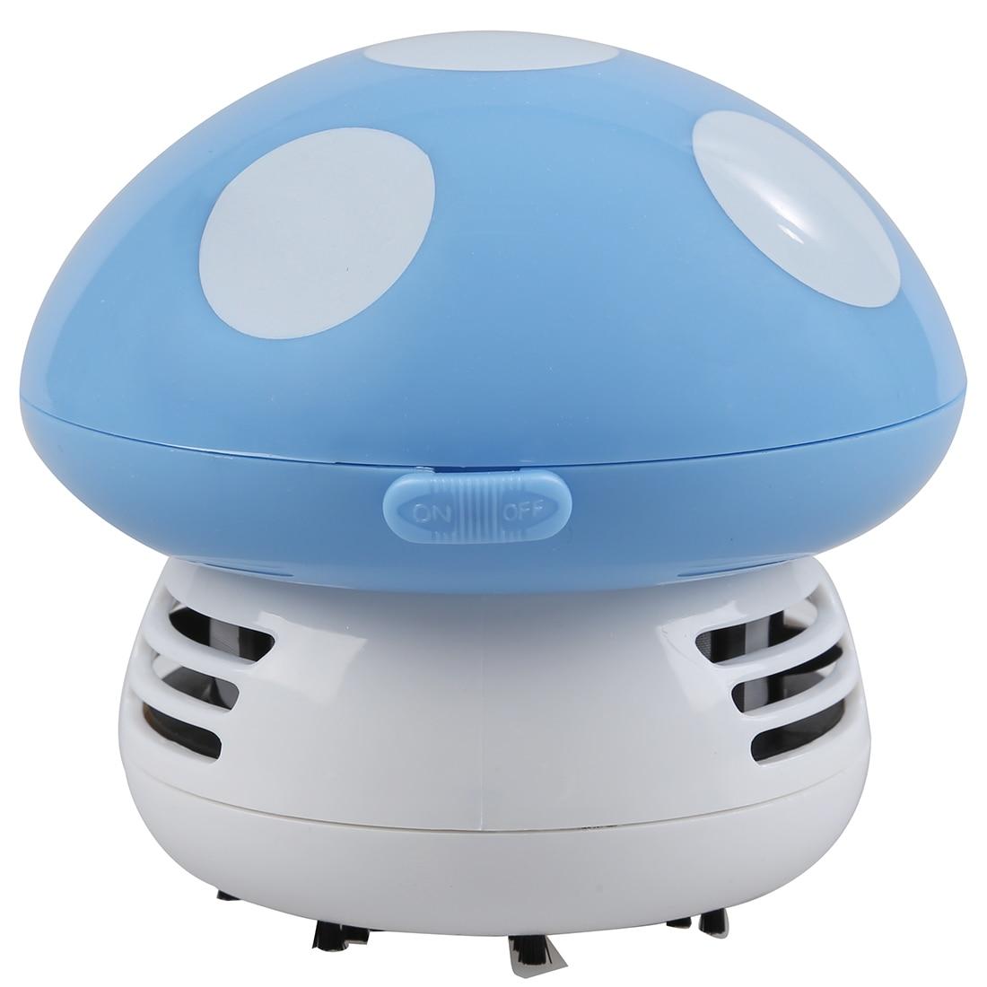 New Home Handheld Mushroom Shaped Mini Vacuum Cleaner Car Laptop keyboard Desktop Dust cleaner-blue