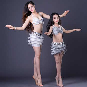 NEW Belly Dance for Adult/Children 3PCS Belly Dance Spandex set Costume Set Dress for Girl /Women Dance Costume
