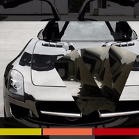 Espelho estilo do carro Cromo Estilo Do Carro Preto Envoltório de Vinil Adesivo Bubble Car Membrane Sticker Decal Film 127 cm x 30 cm