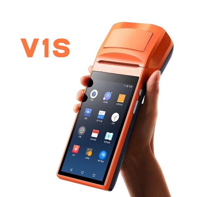 SM-V1 5.5 inch מסך מגע כף יד 3 גרם Andoid מיני מכונת קופה עם Bluetooth Wifi תרמית מיני מדפסת קופה