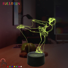 Creative Figure Skating 3D Desk Night Light Coloful Gradient LED Desk Lamp Touch Button Table Lampara Child Birthday Xmas Gift стоимость
