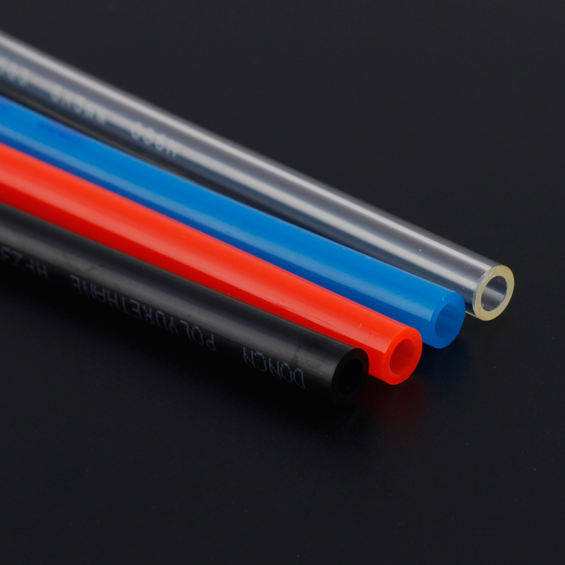 1m OD*ID 8*5 PU Air Tube Clear/Black/Red/Blue Polyurethane Tubing Pneumatic Hose Pipe for Air Pump Compressor Connector air compressor 1 2bsp 2 way hose pipe inline manifold block splitter teal blue