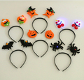 LED Light Up Hairband Headband Pumpkin Spider Bat  Skull Flashing Party Xmas Gift Halloween Decoration YH216