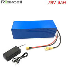 US EU No Tax Powerful 36Volt 500W Electric Bicycle Ebike Battery 36V 8Ah li ion battery Pack with 15A BMS + 42V 2A Charger