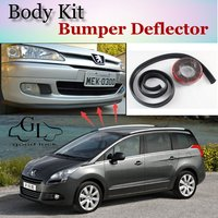 Bumper Lip Deflector Lips For Peugeot 5008 Front Spoiler Skirt For TopGear Friends To Car Tuning / Body Kit / Strip