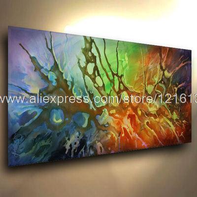 Welp Natuurlijke schilderijen verf abstract acryl schilderijen RY-67