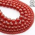 Cornalina Natural 4/6/8/10/12/14 MM Pedra Natural red ágata beads para DIY jóias Pulseiras & Colares parágrafo hacer cuentas pulseras