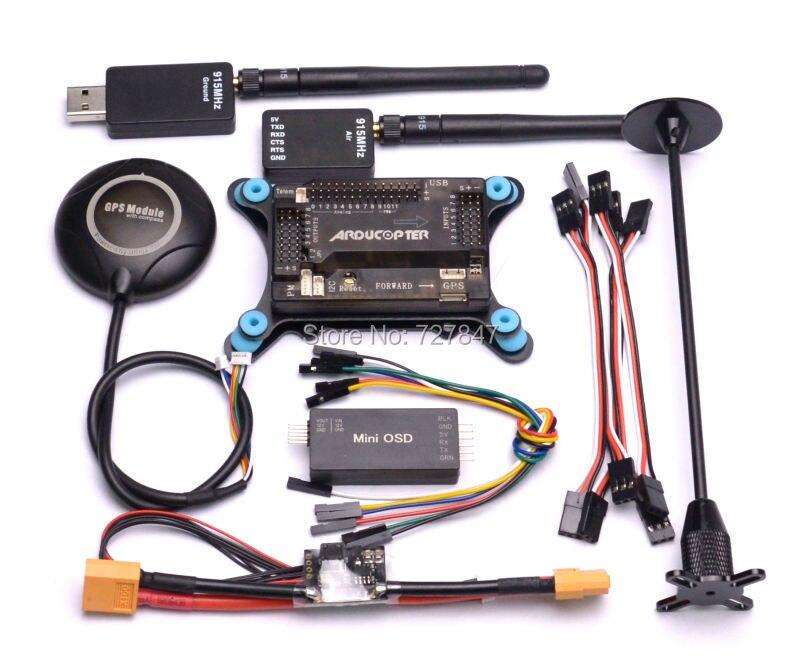 APM2.8 w/amortyzator + M8N 8N GPS z kompasem + moduł zasilania + Minim OSD + 433 mhz 433/915 Mhz 915 telemetrii w Części i akcesoria od Zabawki i hobby na  Grupa 1