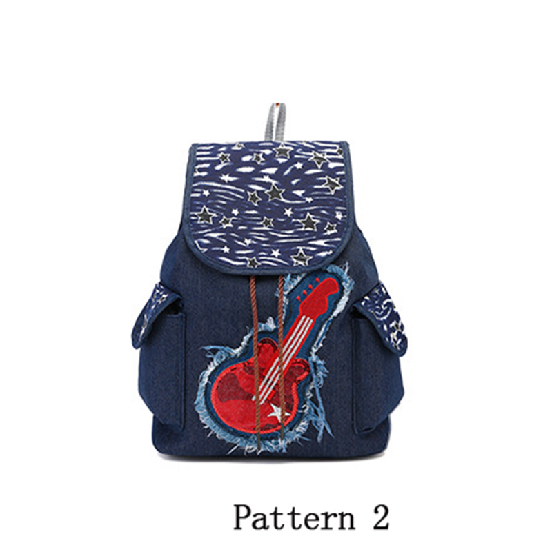 b927af12d92 New Fashion Embroidery Canvas Printing Backpack Student School Bag Teenage  Girls BackPack Casual Travel Bag Hot Sale Backpack