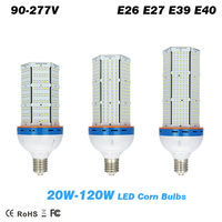 DHL fast shipping 20 120W LED corn bulbs E26 E27 E39 E40 lamp Base Garden Lights Warehouse & parking lot lighting