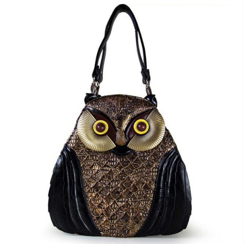 Owl Retro luxury shoulder bag&top-handle bag printing women bags Italy Bracci Retro Handmade Bolsa Feminina Ladies mexico bags famous brand women canvas bags shoulder bag italy handbag style retro handmade bolsa feminina braccialini for ladies mexico bags