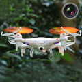 Mini 4 Canales 6-Axis Gyro 2.4 GHz Luz LED RC Drone Quadcopter Helicóptero de Juguete con $ number MP Cámara Blanco