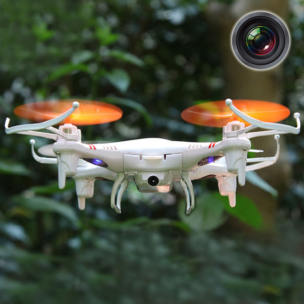 Mini 4 Channel 6-Axis Gyro 2.4GHz LED Light RC Drone Quadcopter Helicopter Toy w