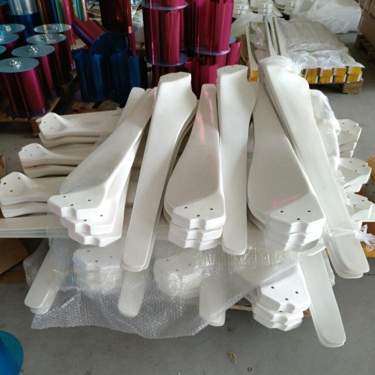 купить blades for 2kw wind generator horizontal, glass fiber blades wind turbine accessories,parts.1.55m length ,3 blades for one set. дешево