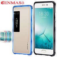 Luxury Case For Meizu Pro 7 Metal Frame With Stand Cover For Meizu Pro 7 Case