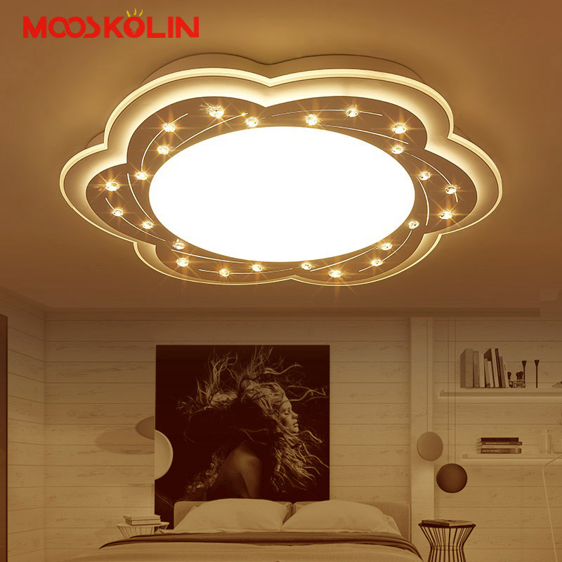 New Crystal Modern led ceiling lights for living room bedroom Plafon led home Lighting ceiling lamp home lighting light fixtures new modern led ceiling lights for living room bedroom plafon home lighting combination white and black home deco ceiling lamp