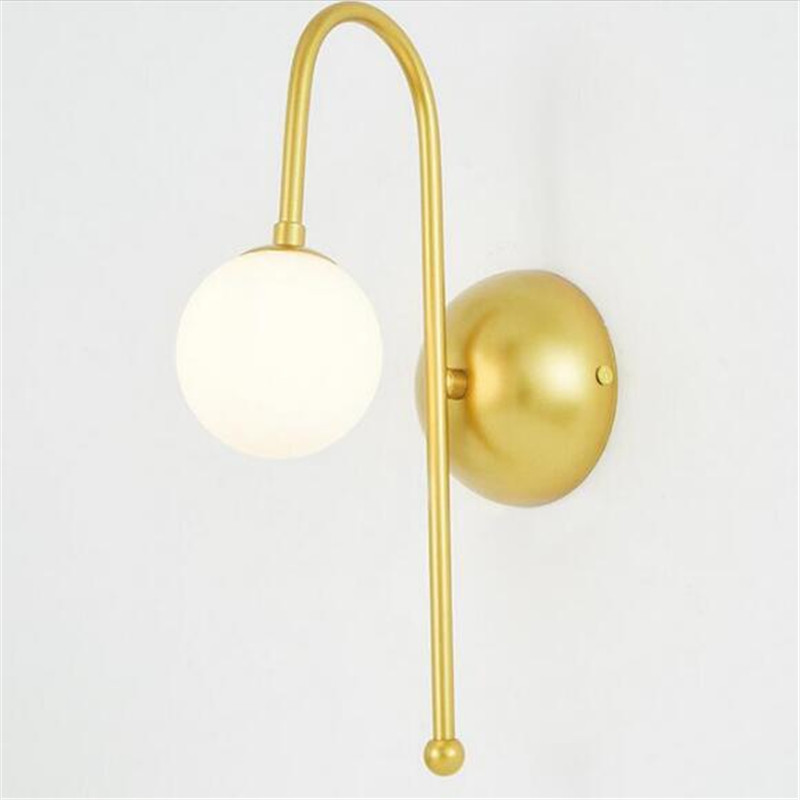 NEW Modern Simple Plated Iron Glass Ball Led G4 Wall Lamp for Living room Bedroom Aisle Entrance 80-265V 1576 modern fashion creative k9 crystal wifi design led 9w wall lamp for living room bedroom aisle corridor bathroom 80 265v 2063