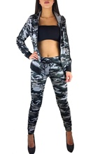ZOGAA 2019 new women sets Womens camouflage training suit fitness trousers and jacket