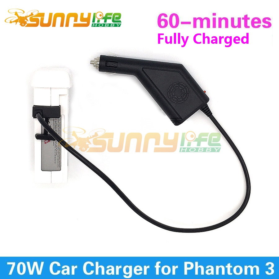 DJI Phantom 3 Car Charger Battery Charger 17 5V 4A 70W Output Battery Accessory for Phantom