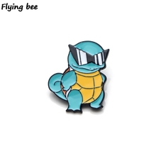 Flyingbee Squirtle Enamel Pin For Clothes Bags Backpack badge Personality Brooch Shirt Lapel Pins X0208
