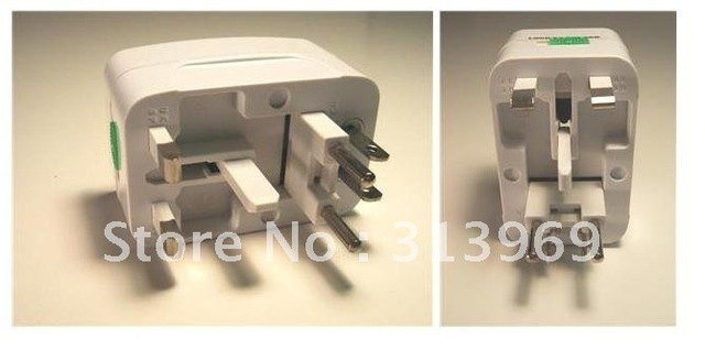 80pcs/lot Brand New  Surge Protector Universal International Travel Power Adapter Plug (US/UK/EU/AU AC Plug) Guaranteed 100%