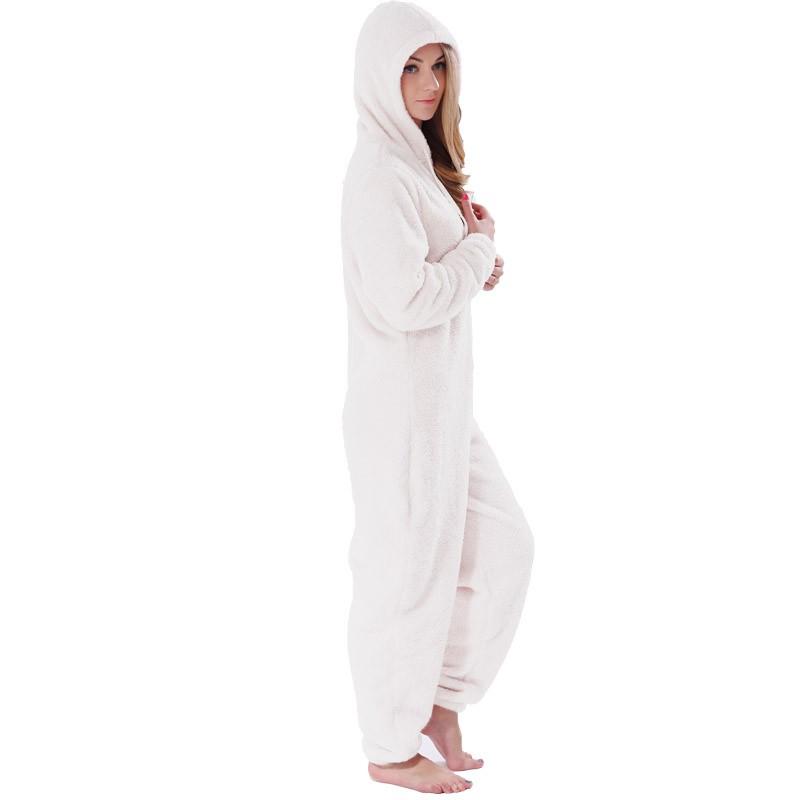 Adults Plus Size Onesie Pajamas Set Girls Pink Rose Red Pajamas Winter Hooded Onesie Sleepwear For Women Teenagers