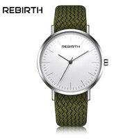 2017 Men Women Watches Top Brand Luxury REBIRTH Quartz Watch Nylon Rose Gold Clock Relojes Mujer