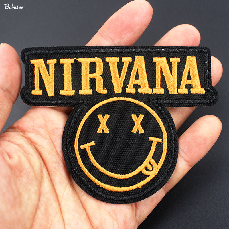 NIRVANA Iron on Patch Rock Music Band Patch Embroidered Sew on Jacket New