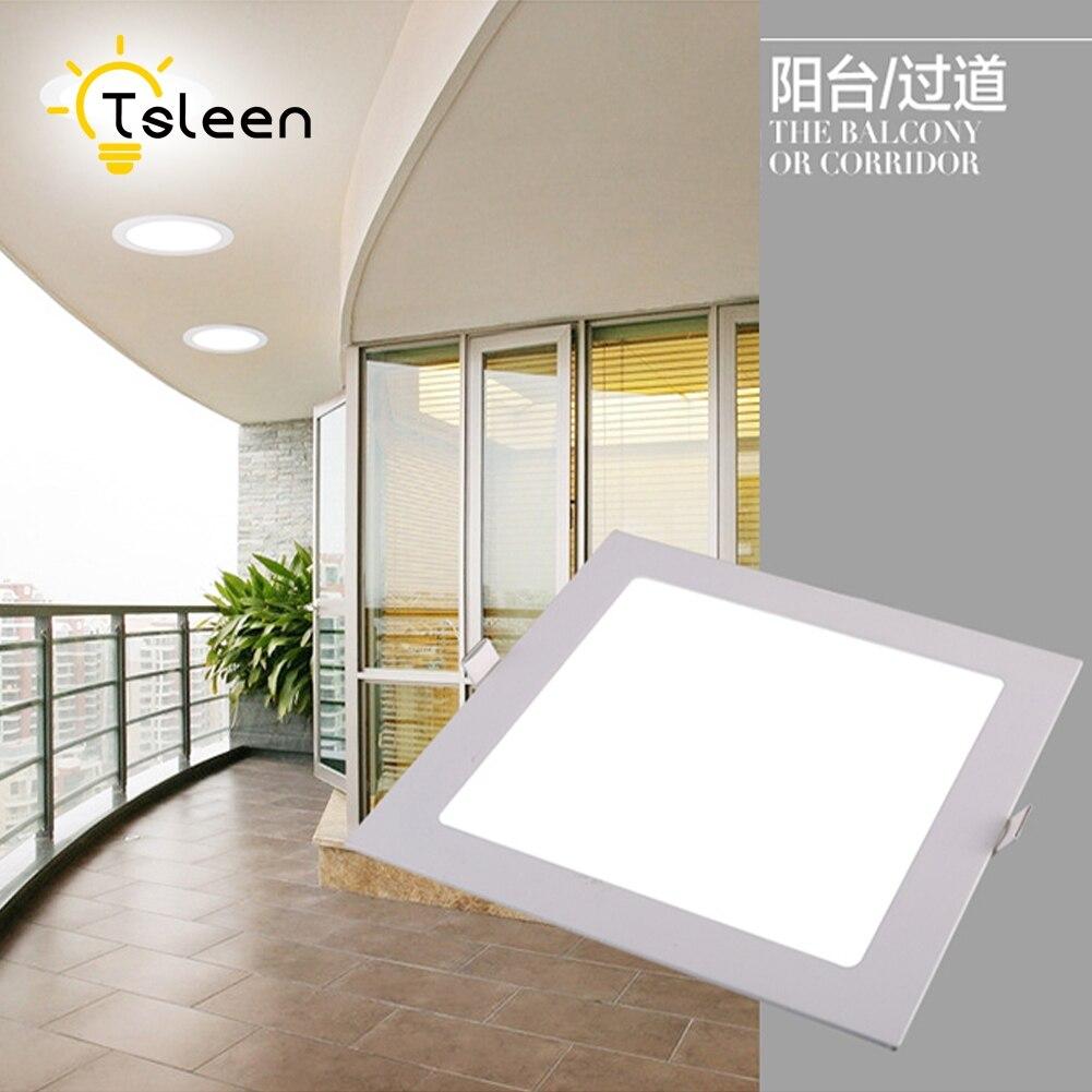 TSLEEN 220 V blanco moderno Led luces de techo para sala dormitorio 85-265 V lámpara de techo de iluminación interior luminaria teto