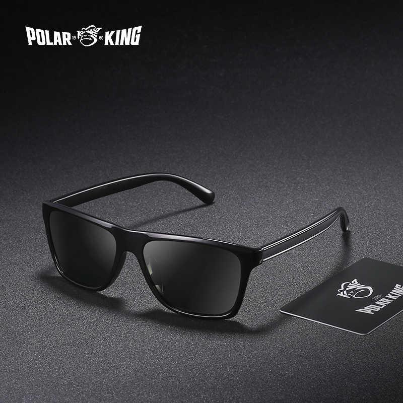 bbc543f6c9 POLARKING Brand Retro Plastic Sun Glasses For Men Travel Oculos de sol Men s  Polarized Sunglasses For