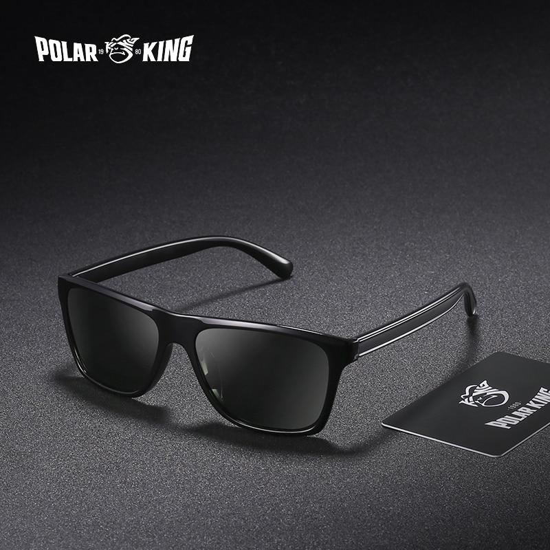 POLARKING Brand Retro Plastic Sun Glasses For Men Travel Oculos de sol Men's Polarized Sunglasses For Driving Fishing Eyewear