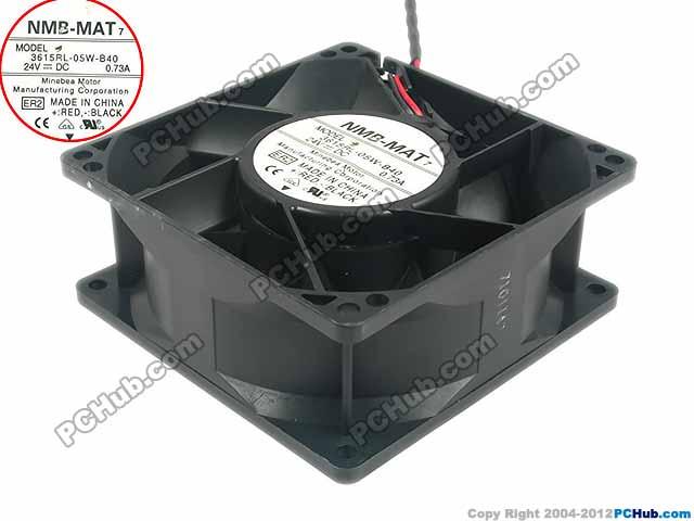 NMB-MAT 3615RL-05W-B40 ER2 DC 24V 0.73A 90x90x38mm Server Square Fan