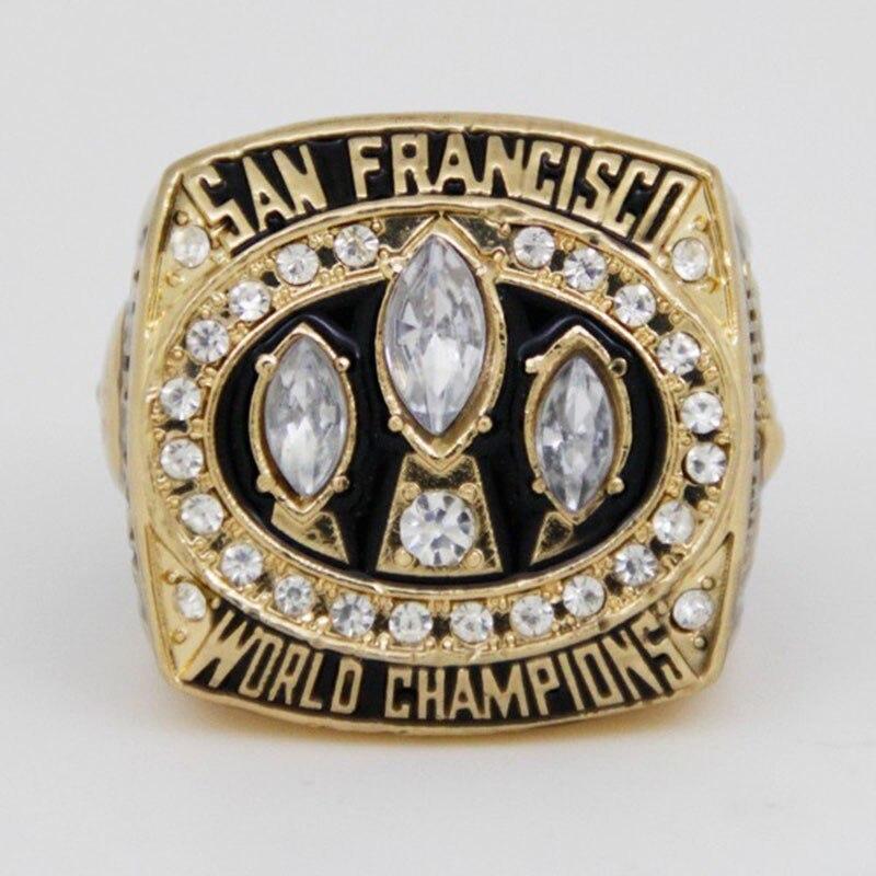 Hot Sale 1988 San Francisco 49ers Football Super Bowl World Championship Ring Drop Shipping font b