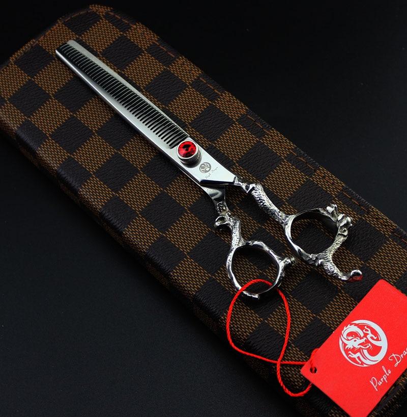 ФОТО 7 inch Dragon Handle High Quality Hair Thinning Scissor Shear Pet Thinning Scissors Dog Grooming Shear