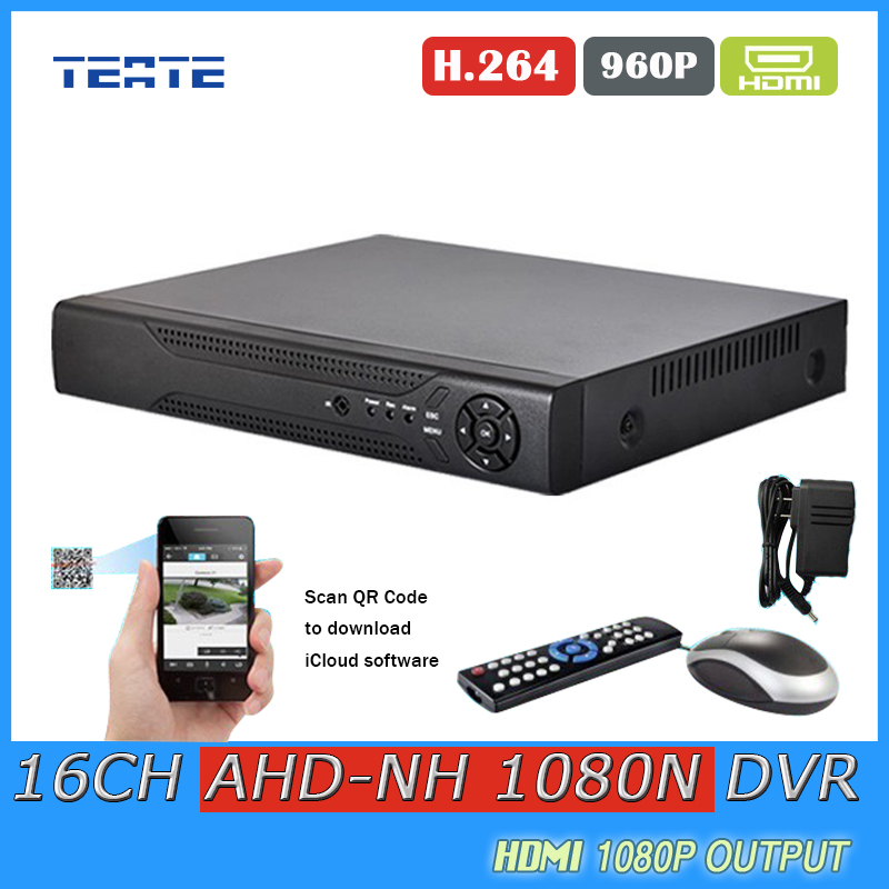 TEATE AHD 1080N CCTV 16CH DVR Digital Video Recorder 16 Channel WIFI Hybrid security surveillance DVR