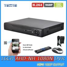 TEATE AHD 1080N CCTV 16CH DVR Digital Video Recorder 16 Channel WIFI Hybrid safety surveillance DVR NVR 16ch 1080P HDMI