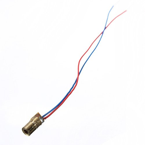 100 pcs Diode laser Module red copper tube-shaped head dot DC 5V 5mW 650nm 6mm