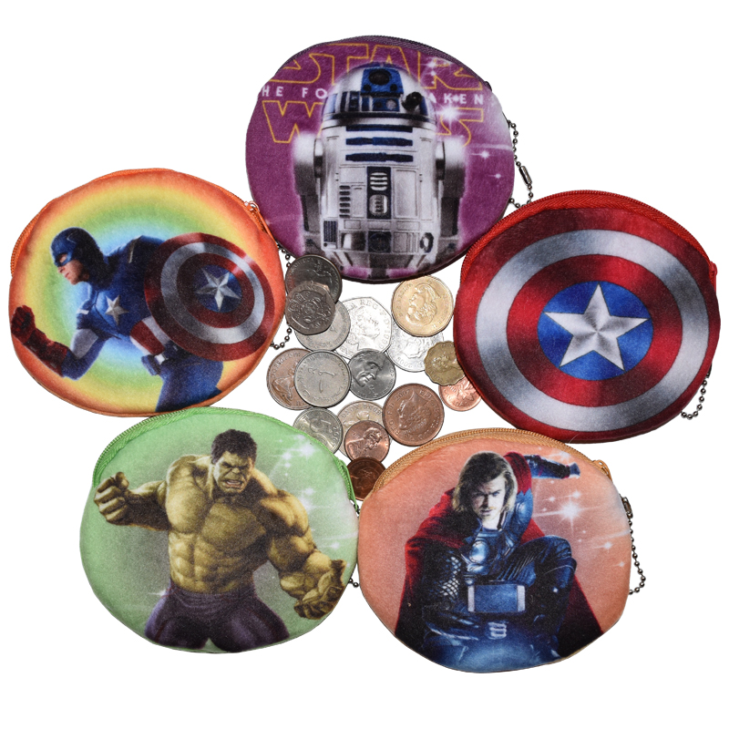 Avengers Zipper Purse For Coins Children Mini Wallet Character Coin Holder Bag Kids Cute Coin Pouch Birthday Present Cute Purses