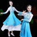 Mulheres Elegantes Lantejoulas Bordado Hanfu Chineses Trajes de Dança Folclórica Yangko/guarda-chuva/guarda-chuva fã Clássico Trajes de Dança para o Desempenho