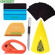 Professional no Scratch Squeegee Spare Fabric Felt Safety Cutter Art Knife Sharp Pointed End Scraper Car Wrap Vinyl Tool Kit K23
